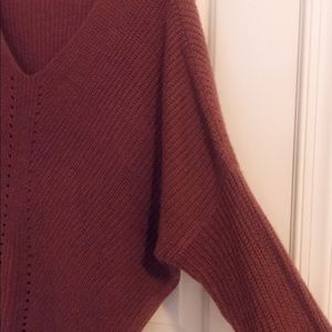 Charlotte Russe Sweaters - maroon oversized sweater